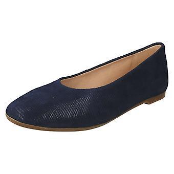 Naiset Clarks slip on ballerina kengät Chia violetti