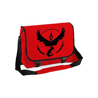 Team valor messenger bag - pokemon go inspired
