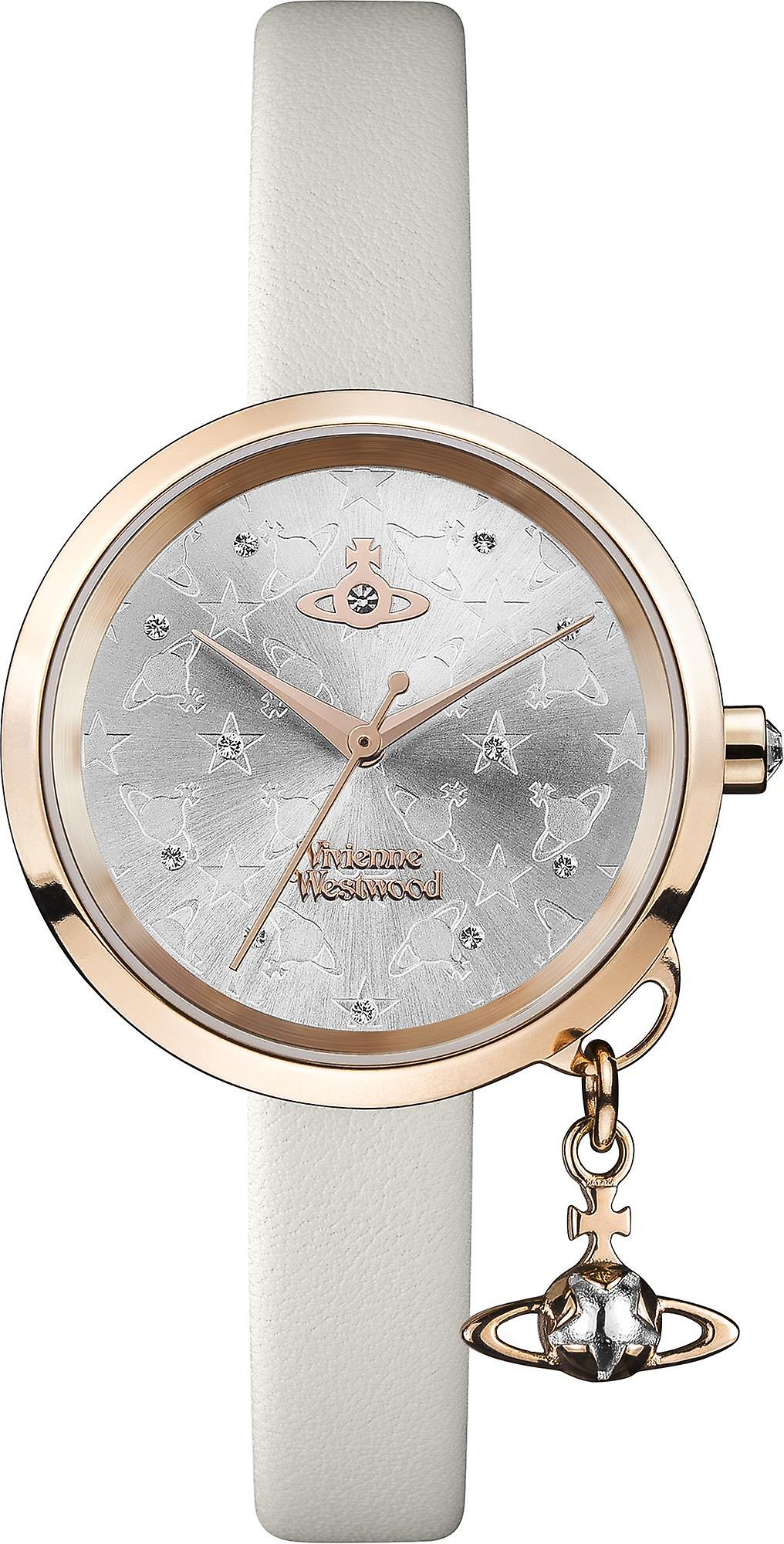 Vivienne Westwood Exclusive Bow Rose Gold Steel Case Cream Leather Strap Ladies Watch VV139WGYCM