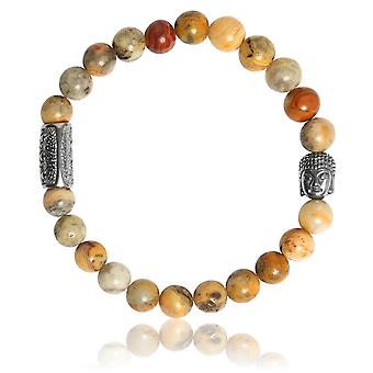 Lauren Steven Design ML021 Bracelet - Crazy Stone Men's Natural Stone Bracelet