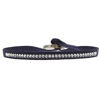 Les Interchangeables A17656 armbånd - Blå stof armbånd krystaller af høj kvalitet Kvinder