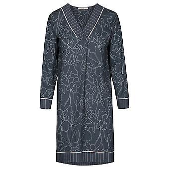 Féraud 3191066-11998 Mujeres's Couture Smokey Azul Algodón Sleep Camisa Nighty
