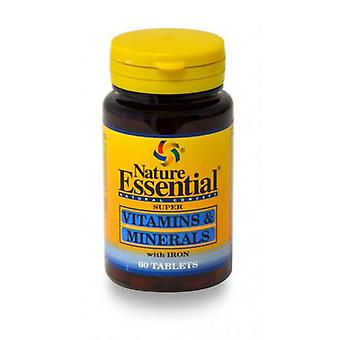 Nature Essential Vitamins & Minerals 600 Mg 60 Tablets