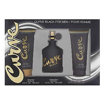 Curve black by liz claiborne for men 3 piece set includes: 4.2 oz cologne spray + 3.4 oz skin soother + 3.4 oz hair & body wash