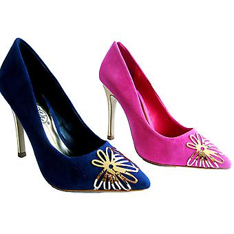 Rascal Fuchsia Pink Ojo Faux Suede Court Shoe UK 2