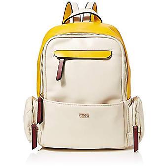 BESSIE LONDONTriple Coloured Backpack Women's backpack bagBeige12x27x22 Centimeters (W x H x L)