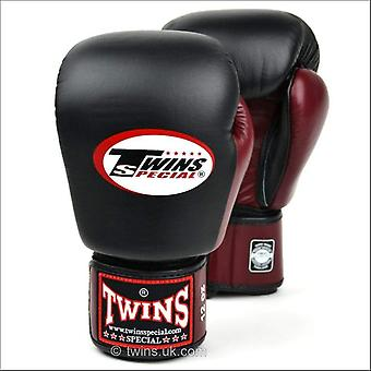 Twins special 2-tone boxing gloves - black maroon