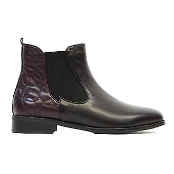 Canal Grande Percy Black Leather Womens Zip Up Chelsea Boots