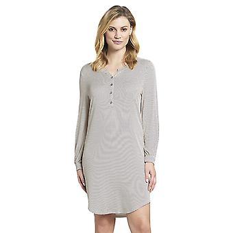 Rösch 1193526-16368 Women's New Romance White Spotted Cotton Nightdress