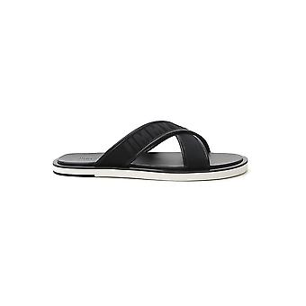 Jimmy Choo Palmolbiblack Men's Black Fabric Sandals