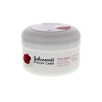 Johnson and Johnson Johnsons Vita Rich Soothing Body Cream 200ml