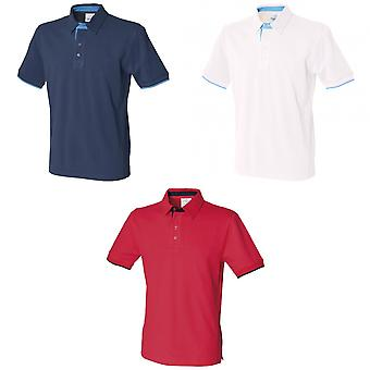 Front Row Mens Contrast Pique Polo Shirt
