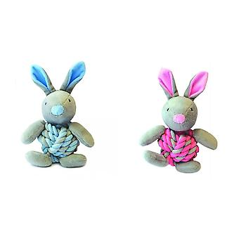 Happy Pet Little Rascals Knottie Bunny Dog Toy