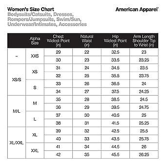 American Apparel Women's Cotton Spandex Long Sleeve, Black, Size X-Large