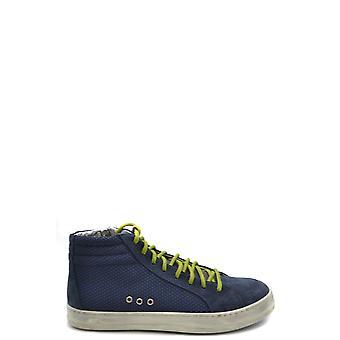 P448 Ezbc283012 Men's Blue Leather Hi Top Sneakers