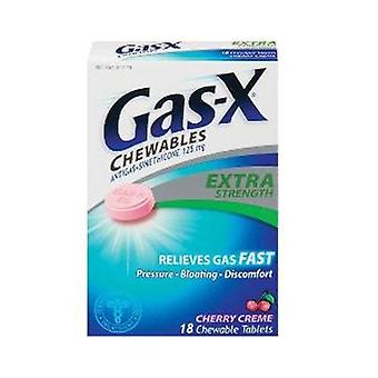 Gas-x extra strength gas relief, tablets, cherry creme, 18 ea