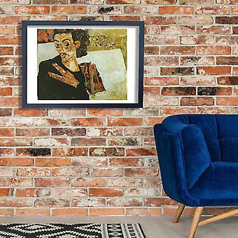 Egon Schiele - Self Portrait Poster Print Giclee