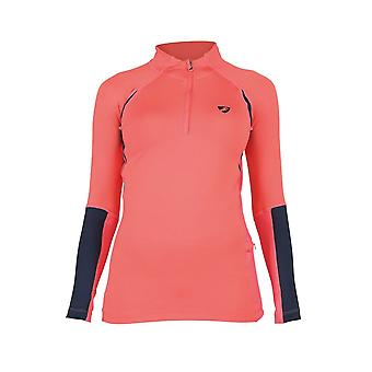 Shires Aubrion Newbury Womens Long Sleeve Base Layer - Coral