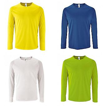SOLS Mens Sporty Long Sleeve Performance T-Shirt
