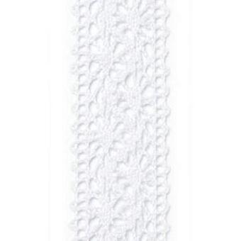 Vivant Ribbon Chantilly lacewhite - 5 MT 22MM