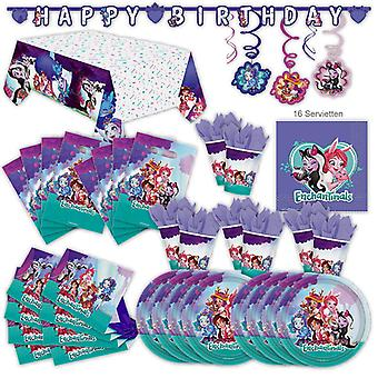 מפלגת הקסמים הגדר XL 61-piece עבור 8 אורחים ליום הולדת המפלגה קישוט חבילת המפלגה