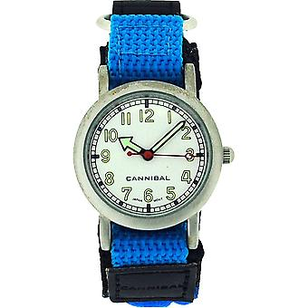 Cannibal Active Boys Blue-Black Easy Fasten Strap Childrens Watch CK002-05