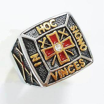 In hoc signo vinces masonic knights templar ring