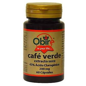 Obire Groene koffie 200 mg droog extract 60 capsules