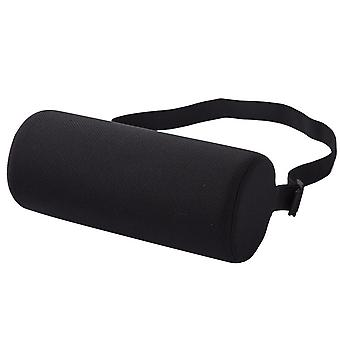 Black cylindrical waist support roll