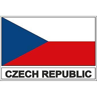 Autocollant sticker drapeau  CZ republique tcheque