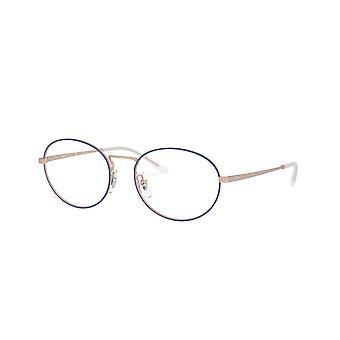 راي بان RB6439 3053 غير لامع الأزرق على نظارات النحاس المطاطية