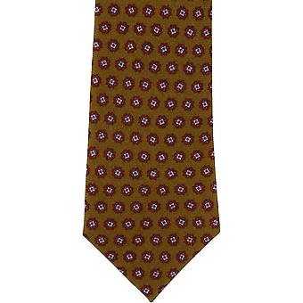 Michelsons of London Floral Neat Wool Tie - Mustard