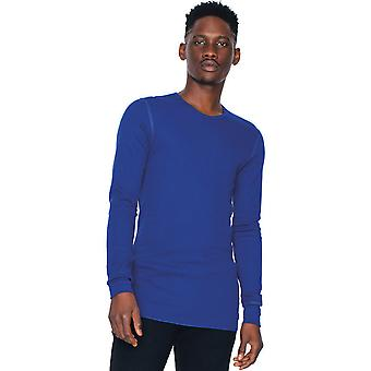 American Apparel Mens Baby thermische Polycotton Long Sleeve T-Shirt