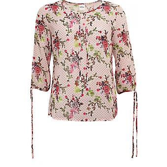 Taifun Semi Sheer Floral Blouse