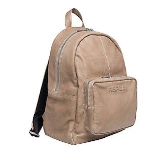 Replay Men-apos;s Soft Leather Backpack 40Cm