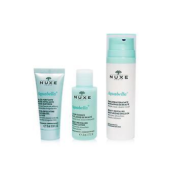 Conjunto de hidratação aquabella (para a combinação de pele): gel purificador 15ml + loção essência 35ml + emulsão hidratante 50ml 247100 3pcs +1bag