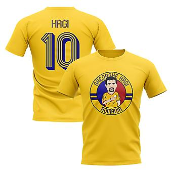 Gheorghe Hagi Romania Illustration T-Shirt (Yellow)