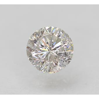 Certified 0.62 Carat E Color SI2 Round Brilliant Natural Loose Diamond 5.14mm