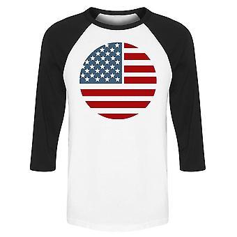Ícone da bandeira americana Raglan Men's -Imagem por Shutterstock