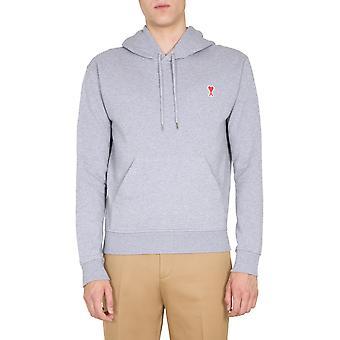 Ami A20hj008730055 Männer's grau Baumwolle Sweatshirt