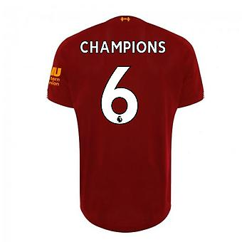 2019-2020 Liverpool Home Football Shirt (Champions 6)
