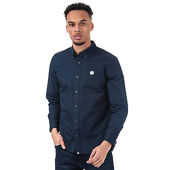 Men's Pretty Green Classic Fit Oxford Shirt in Blue