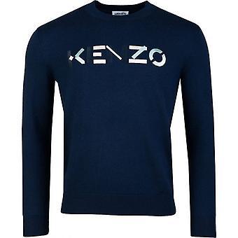 Kenzo brodé Chest Logo Crew Neck Knit