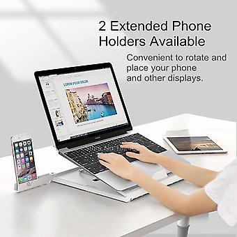 Justerbart Laptopställ med Två Mobilhållare
