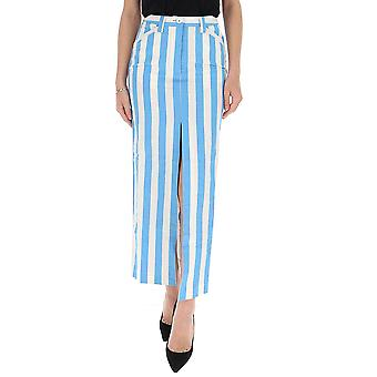 Sunnei Wk05bcr13whas Femmes-apos;s Jupe en coton bleu clair
