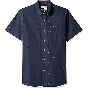 Goodthreads Men's Standard-Fit Short-Sleeve Dobby Shirt, -navy Pfeil, XX-Large