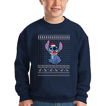 Lilo és Stitch karácsony kötött mintás Kid ' s pulóver