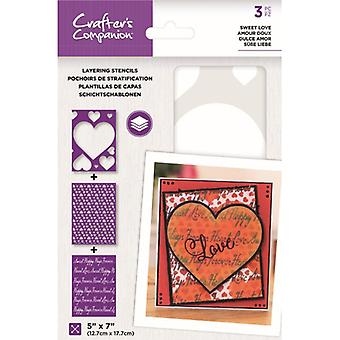Crafter's Companion Sweet Love Layering Kaleidoscope Stencils