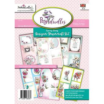Polkadoodles Posydoodles Spring Song A4 Paper Kit