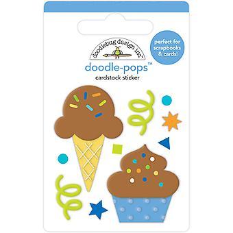 Doodlebug Design Tårta & Glass Doodle-Pops